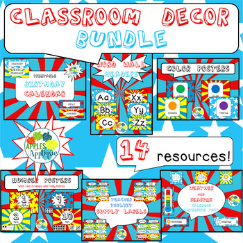 Complete Classroom BUNDLE in Comic Book Theme