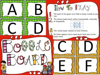 Complete Classroom Boggle Board Set