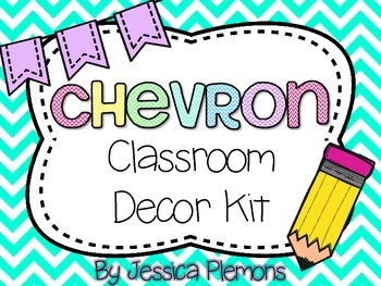 Complete Classroom Decor Kit: Chevron