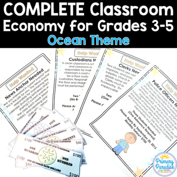 Classroom Economy Pack {Complete} for Grades 3-5: Ocean Theme
