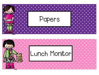 Complete Classroom Job Kit! EDITABLE.
