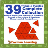 Complete Collection Triangle Puzzles for Middle School Math CCSS Common Core