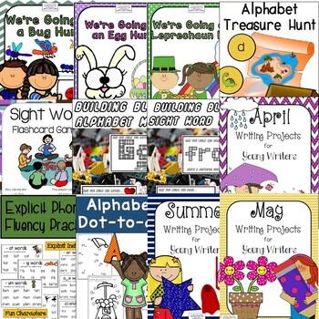 Complete Common Core ELA standards for Kindergarten