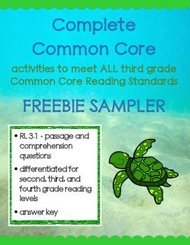 Complete Common Core FREEBIE - Fiction Passage