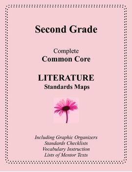 Second Grade Complete Common Core LITERATURE Standards Maps