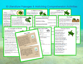 Sea Turtles: Reading Comprehension Passages for ALL 3rd Grade Reading Standards