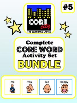 Complete Core Word Activity Set Bundle 5: ME, YOU, SAD, HAPPY
