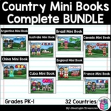 Complete Country Mini Book Bundle for Early Readers