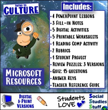 Complete Culture Unit- US or World Cultures