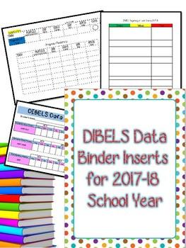 Complete DIBELS Data Binder for 2017-18 School Year