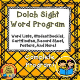 Dolch Sight Word Program for Early Readers- Complete! (Editable)