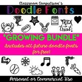 Complete Doodle Fonts Collection *Growing Bundle!*