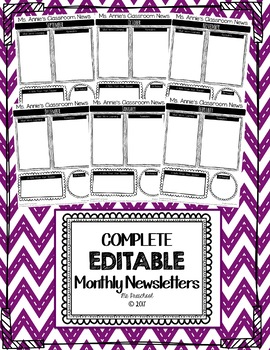 Complete EDITABLE Monthly Newsletter Templates
