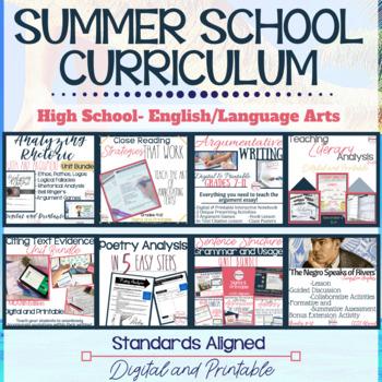 ELA Curriculum Bundle--Grades 9-10, Digital and Printable