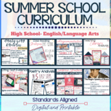 Summer School Curriculum Bundle--Grades 9-10, Digital and Printable