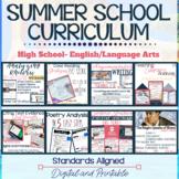 ELA Summer School Curriculum Bundle - Grades 9-10. Digital for Distance Learning
