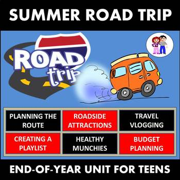 ROAD TRIP - The Ultimate Unit for Teens - ESL, ELA