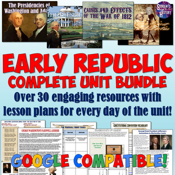 Early American History Unit Plan Set