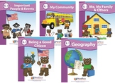 Complete Early Childhood SOCIAL STUDIES Curriculum 5 Guides-50 lessons/325 pages