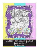Complete Easter coloring pages.(12 pages) K-6th