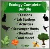 Complete Ecology Bundle - Lab Stations, Digital Scavenger Hunts, and Readings