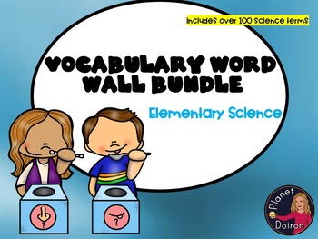 Science Vocabulary Word Wall bundle physical/earth/biology/life