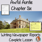 Complete English Lesson on Newspaper Reports – Awful Auntie