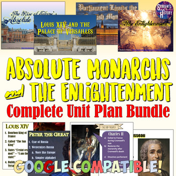 Absolute Monarchs and Enlightenment Complete Unit Set