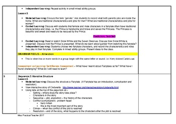 Complete Fairytales Unit of Work: Stage 2 Year 3 & 4 (Aligned to NSW Outcomes)