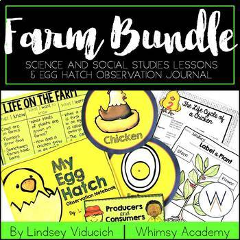 Complete Farm Unit and Egg Hatch Observation Notebook BUNDLE
