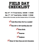 Field Day Package (Complete and Editable for Your Program)