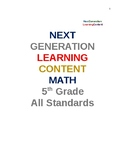 Complete Fifth Grade Next Generation Math Worksheet Package All Standards