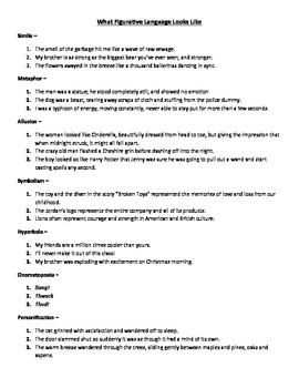Complete Figurative Language Packet