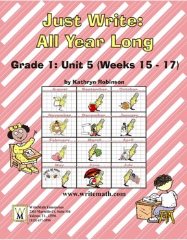 Daily First Grade Writing Lessons, Activities, Grammar - Unit 5 - {CCS Aligned}