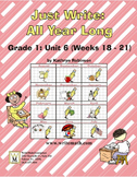 Daily First Grade Writing Lessons, Activities, Grammar - Unit 6 - {CCS Aligned}