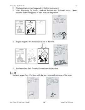 Daily First Grade Writing Lessons, Activities, Grammar - Unit 7 - {CCSS Aligned}