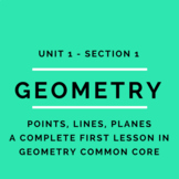 Complete First Lesson in Geometry CC Course - Points, Line
