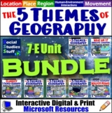BUNDLE | Intro to Five Themes of Geography | 5 Themes Unit | Distance Learning