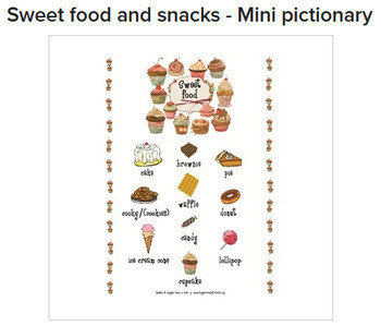 Complete Food and Beverages BUNDLE - Mini Pictionaries & Activities