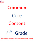 Complete Fourth Grade Common Core Math Worksheets All Standards