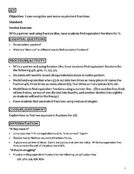 Fraction Unit - Eleven Lessons