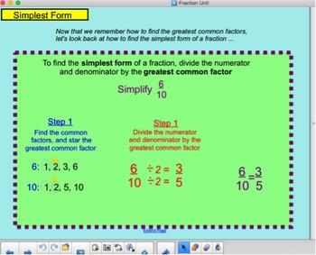 simplest form finder  Complete Fraction Unit: SMART Notebook slides, Activities, Exit Slips, HW