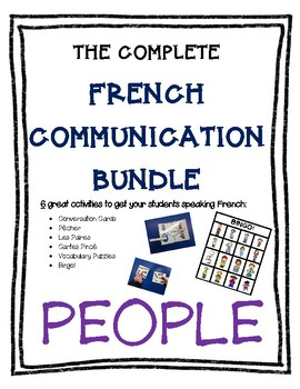 Complete French Communication Bundle - PEOPLE