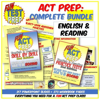 Complete Fun ACT Prep BUNDLE: Everything You Need for a FUN Test Prep Class!