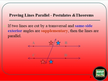 Complete Geometry Unit on Parallel and Perpendicular lines including power point