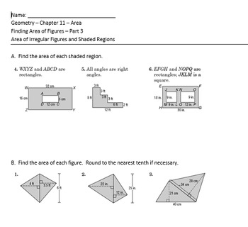 Complete Geometry Unit on Perimeter and Area