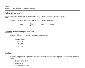 Complete Geometry Unit on Similarity with power points