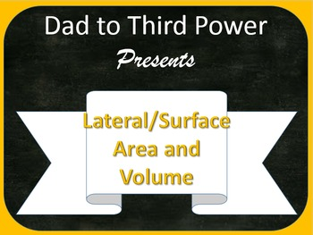 Complete Geometry unit on Lateral area, Surface area, and