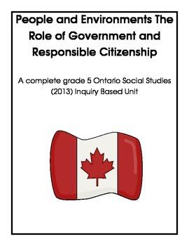 Complete Grade 5 Ontario Social Studies Inquiry-Based Unit (People)