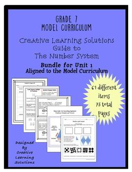 Complete Grade 7, Unit 1 Bundle for the Number System